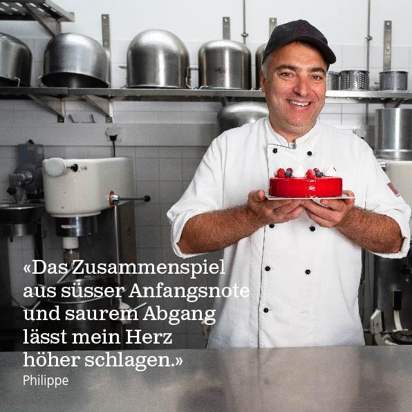 Beschle Conditor mit Torte von Beschle Confiserie Basel